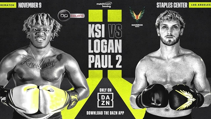 KSI vs Logan Paul 2 on Dazn.